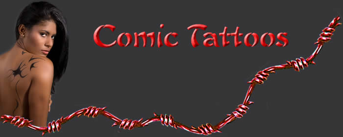 Comicfiguren Tattoos