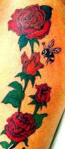 rosen tattoos tattoo bilder rosenbl ten tattoovorlage. Black Bedroom Furniture Sets. Home Design Ideas
