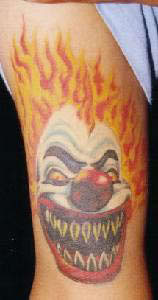 Grinsender Clown Tattoo